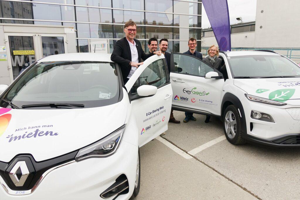Jetzt neu: 3 E-Car-Sharing Autos in Weiz