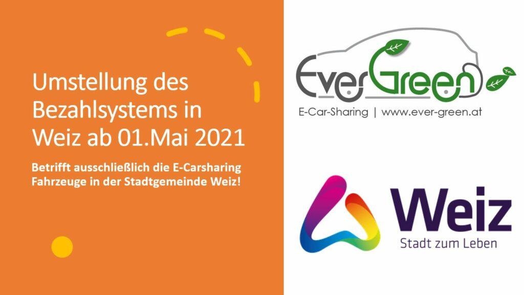 Umstellung des Bezahlsystems in Weiz ab 01. Mai 2021