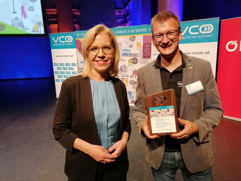 Der 30. VCÖ-Mobilitätspreis Österreich geht an Carsharing Österreich – Ever-Green E-Car-Sharing ist ein Teil davon!